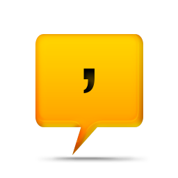 075408-yellow-comment-bubbles-icon-alphanumeric-comma